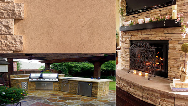 Stucco, Kitchens, and Fireplaces
